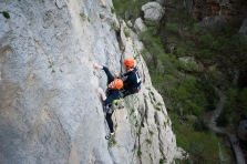 Perica making the crux of 2nd pitch