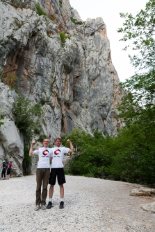 The brothers after setting the record. Photo: L. Tambača