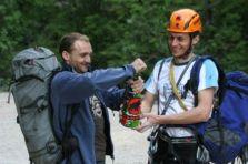 Čorko and Sakač celebrating their record in the Mammut days of BWSC