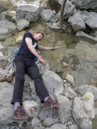 Jurica did not fall drunk in the river - he is healing an inflamed elbow in the cold water!