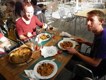In Tarragona, eating paella is a must!