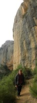 In front of Kamaleon - amazing 50m long 7c in Montsant