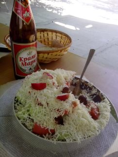 A meal is not propoer without Šopska salad