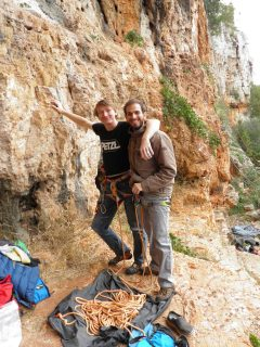 Antonio, great climbing partner, and the greatest cheerleader of them all, cooooooomeee ooooon!