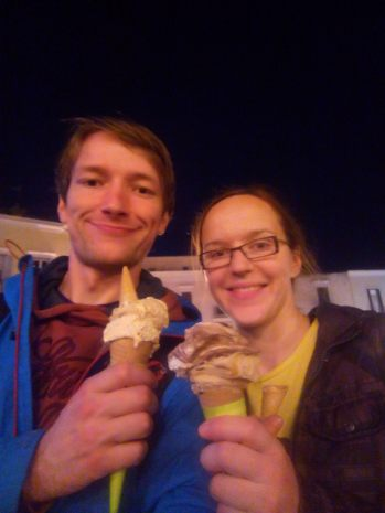 Ice-cream is out of this world! We had to reward ourselves with one after each training session :)