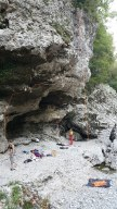 Sector Moneide in Premariacco - the route with the rope is a 6c+!